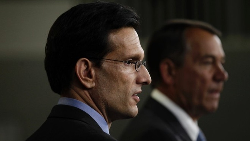 Majority Leader Eric Cantor and House Speaker John Boehner, in a 2011 file photo.