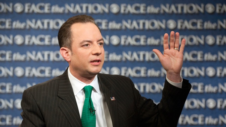 "FILE: March 17, 2013: Republican National Committee Chairman Reince Priebus on CBS's ""Face the Nation,"" in Washington, D.C."