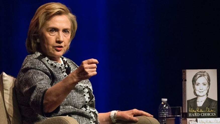 Hillary Rodham Clinton speaks at an event to discuss her new book in Washington, Friday, June 13, 2014.