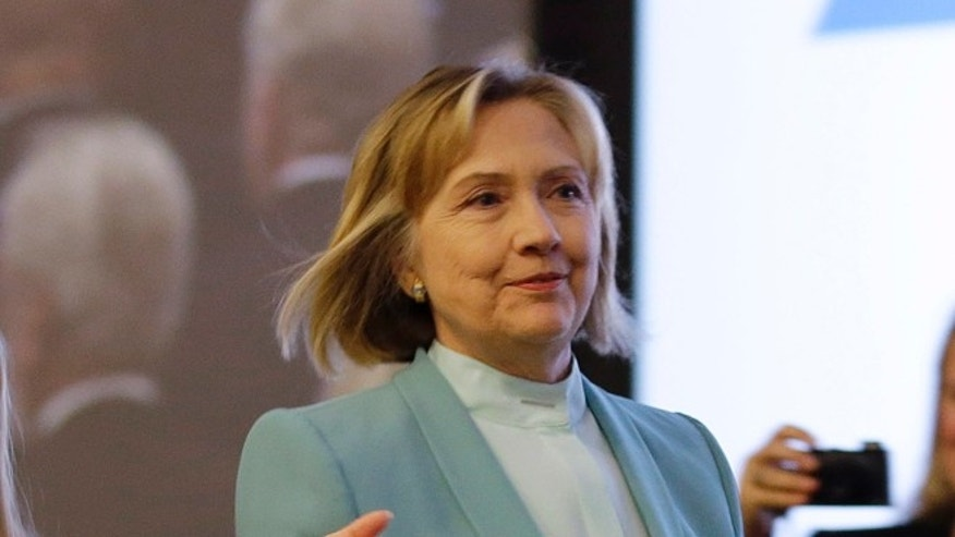 FILE: Aug. 12, 2013: Former Secretary of State Hillary Clinton at the American Bar Association's annual meeting in San Francisco, Calif.