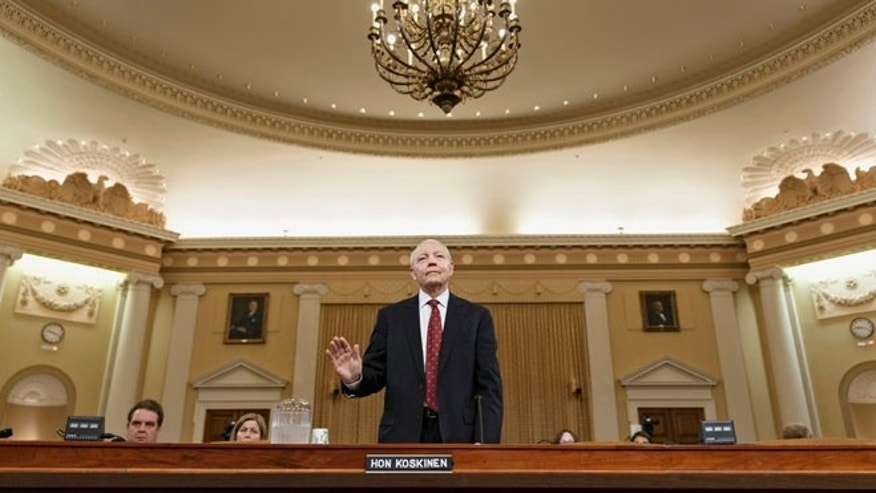 Internal Revenue Service (IRS) Commissioner John Koskinen is sworn in on Capitol Hill in Washington, Friday, June 20, 2014, prior to testifying before the House Ways and Means Committee hearing on whether tea party groups were improperly targeted for increased scrutiny by the IRS.