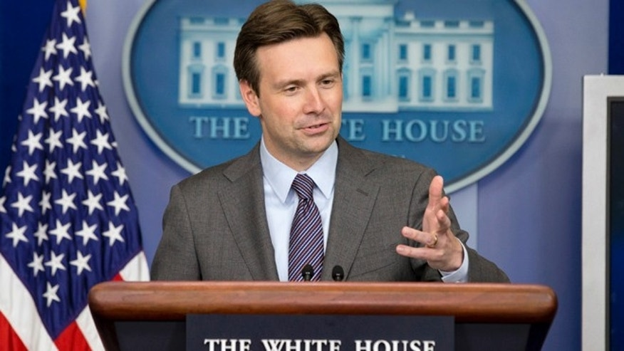 June 20, 2014: Incoming White House Deputy Press Secretary Josh Earnest in the Brady Press Briefing Room of the White House in Washington, D.C.
