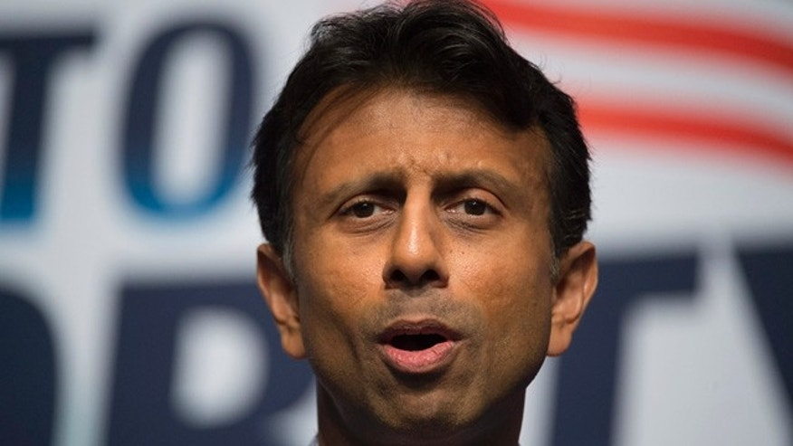June 21, 2014: Louisiana Gov. Bobby Jindal delivers the keynote address during the Faith and Freedom Coalition's Road to Majority event in Washington. (AP Photo/Molly Riley)