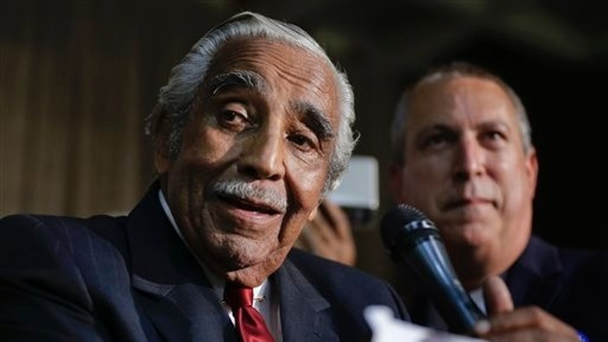 Rep. Charles Rangel, D-N.Y. at primary election night on Tuesday, June 24, 2014, in New York.