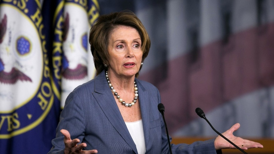 House Minority Leader Rep. Nancy Pelosi (D-CA) speaks during a news conference, on Capitol Hill.