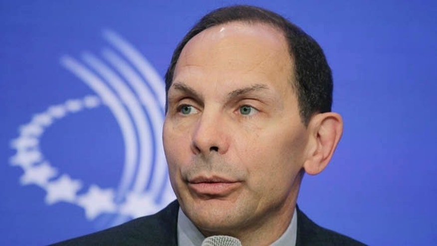 This Sept. 22, 2011 file photo shows Robert McDonald speaking at the Clinton Global Initiative in New York.