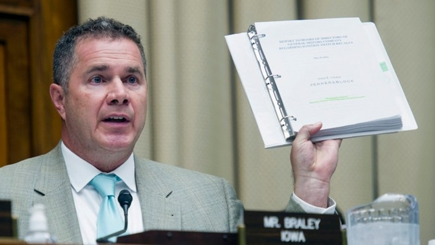 June 18, 2014: Rep. Bruce Braley, D-Iowa, speaks at a hearing on Capitol Hill in Washington.