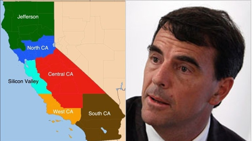 Investor Tim Draper believes six Californias is better than one. (Reuters)