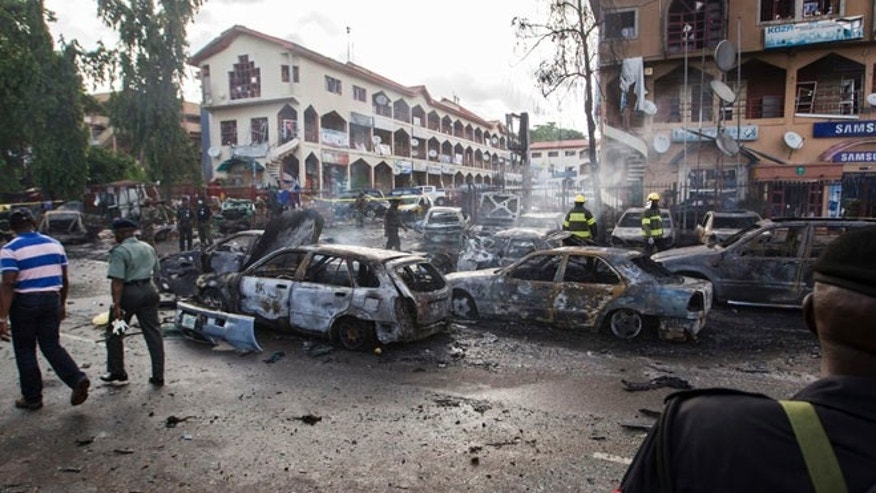 FILE: June 25, 2014: The terror group Boko Haram has taken credit for this fatal bomb blast in Abuja, Nigeria.