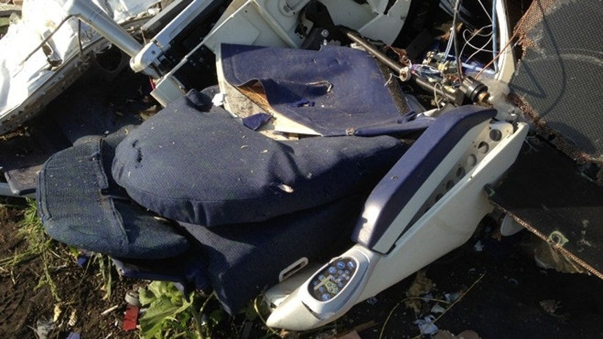 July 20, 2014: A business class seat at the crash site.