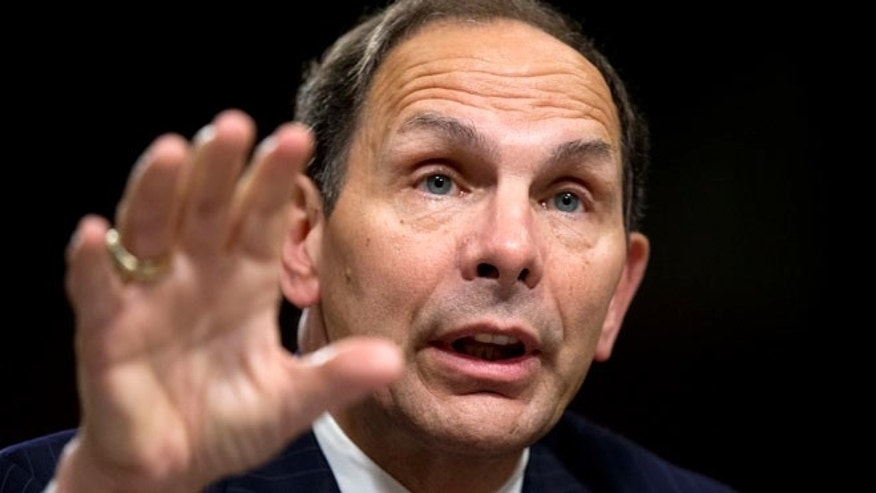 July 22, 2014: Veterans Affairs Secretary nominee Robert McDonald of Ohio testifies before a Senate Veterans' Affairs Committee hearings to examine his nomination to be Secretary of Veterans Affairs on Capitol Hill in Washington. (AP)