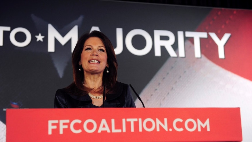FILE -- Republican Minnesota Rep. Michele Bachmann attends the Faith and Freedom Coalition Road to Majority Conference at the J.W. Marriott Hotel in Washington, June 14, 2013. (REUTERS/Mary F. Calvert)