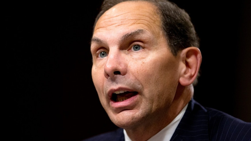July 22, 2014: Then-Veterans Affairs Secretary nominee Robert McDonald testifying on Capitol Hill in Washington.