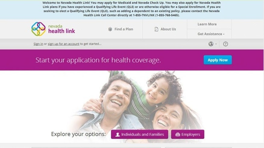 Nevada ObamaCare exchange. www.nevadahealthlink.com