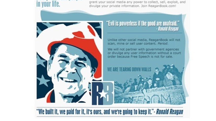 "ReaganBook promises to offer a ""platform for all freedom-loving Americans."""