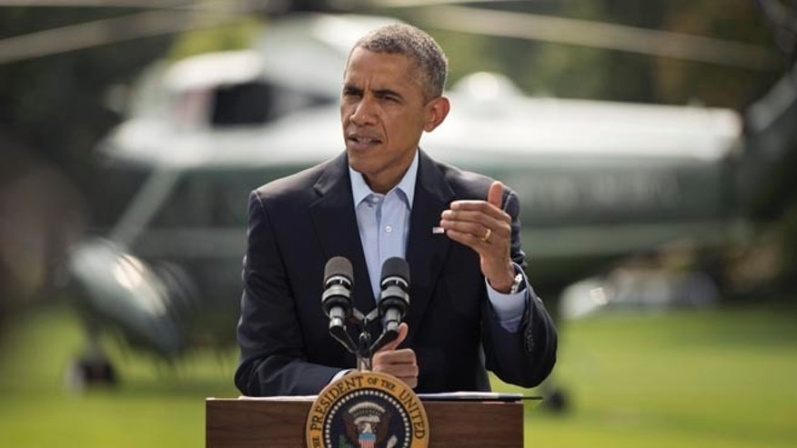 FILE: Aug. 9, 2014: President Obama speaks at the White House about the ongoing situation in Iraq.