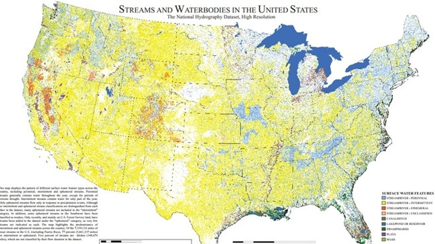 Shown here is one of the many maps commissioned by the EPA to detail U.S. waterways.