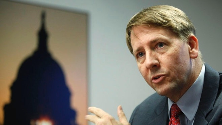 Oct. 23, 2013: Consumer Financial Protection Bureau (CFPB) Director Richard Cordray answers questions at the Reuters Washington Summit in Washington.