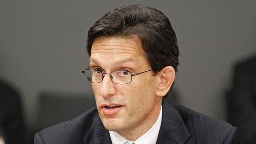 FILE: May 23, 2014: House Majority Leader Eric Cantor, R-Virginia, at the Siemens Energy Hub in Charlotte, N.C.