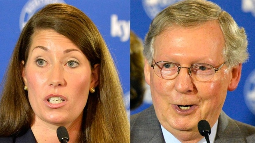 Alison Lundergan Grimes and Sen. Mitch McConnell.