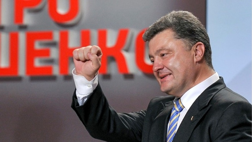 May 25, 2014: Petro Poroshenko in Kiev, Ukraine.