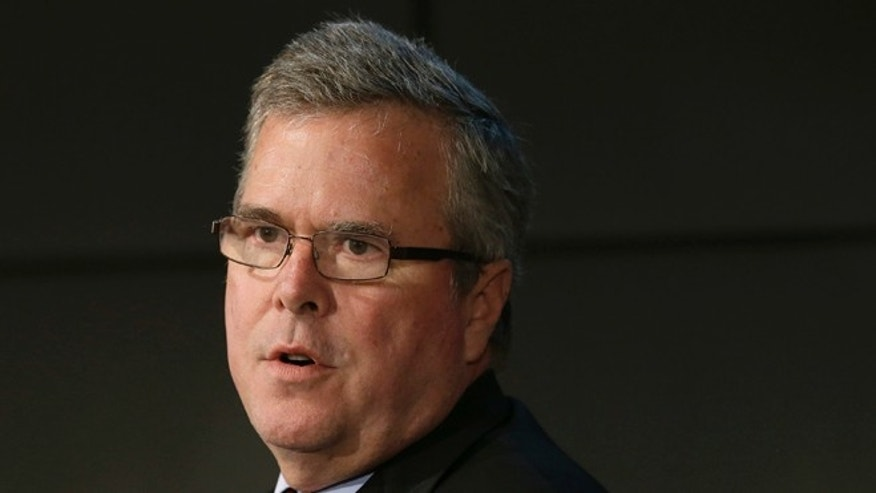 FILE: Jan. 14, 2014:  Former Florida Gov. Jeb Bush at a forum in Nashville, Tenn.