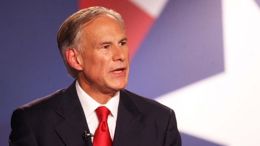 Texas Attorney General Greg Abbott speaks during the Rio Grande Valley Gubernatorial Debate between him and Texas state Sen. Wendy Davis in Edinburg, Texas on Friday, Sept. 19, 2014. The debate was the first of two scheduled before the November election. (AP Photo/The McAllen Monitor, Joel Martinez, Pool)