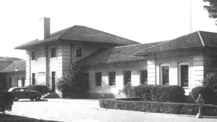 Shown here is an archived image of the old Fort McClellan headquarters building.
