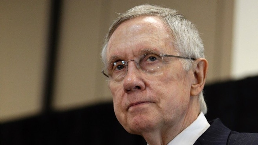 Aug. 29, 2014: Senate Majority Leader Harry Reid at a conference  in Las Vegas, Nevada.