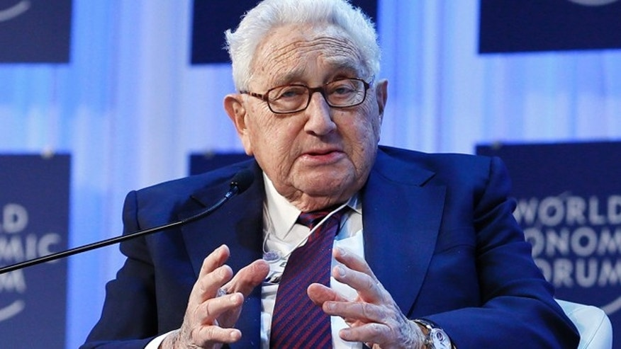 Jan. 24, 2013: Henry Kissinger, chairman of Kissinger Associates, speaks during the annual meeting of the World Economic Forum (WEF) in Davos. (Reuters)