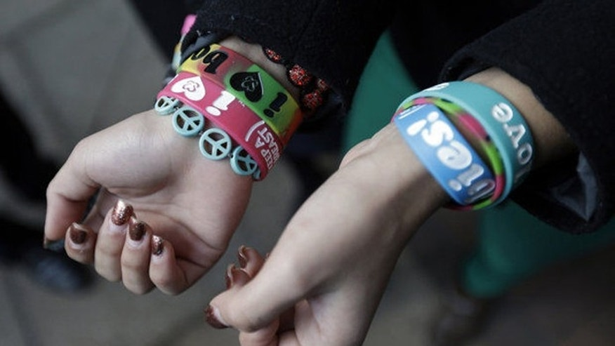 The bracelets were deemed offensive by the Easton, Pa., school district, but two court rulings found they were protected speech. (AP)
