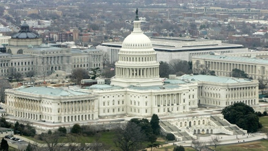 Jan. 6, 2006: The U.S. Capitol Building is seen from a U.S. military helicopter in Washington.