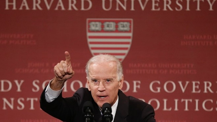 Oct. 2, 2014: Vice President Biden speaks at Harvard University'ss Kennedy School of Government in Cambridge, Mass.