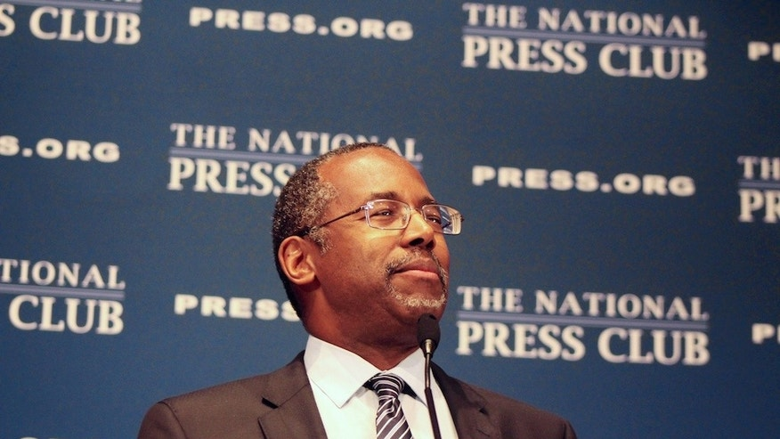 Ben Carson Speaking at the National Press Club (Katie Frates/The Daily Caller)