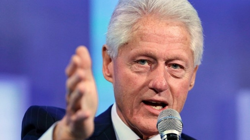 In this Monday, Sept. 22, 2014 photo, former President Bill Clinton speaks at the Clinton Global Initiative in New York.