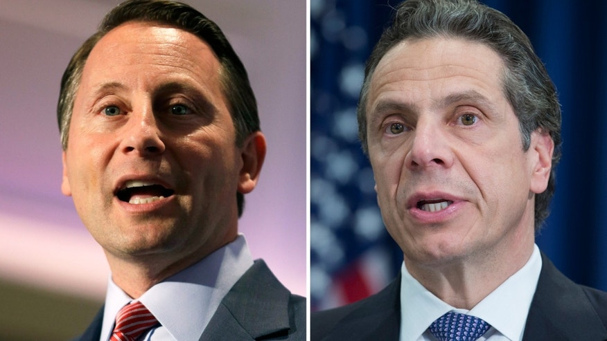 Westchester County executive and GOP candidate Rob Astorino and New York Governor Andrew Cuomo.