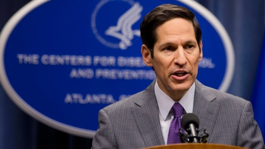 Director of Centers for Disease Control and Prevention Dr. Tom Frieden speaks during a news conference on Tuesday, Sept. 30, 2014, in Atlanta.