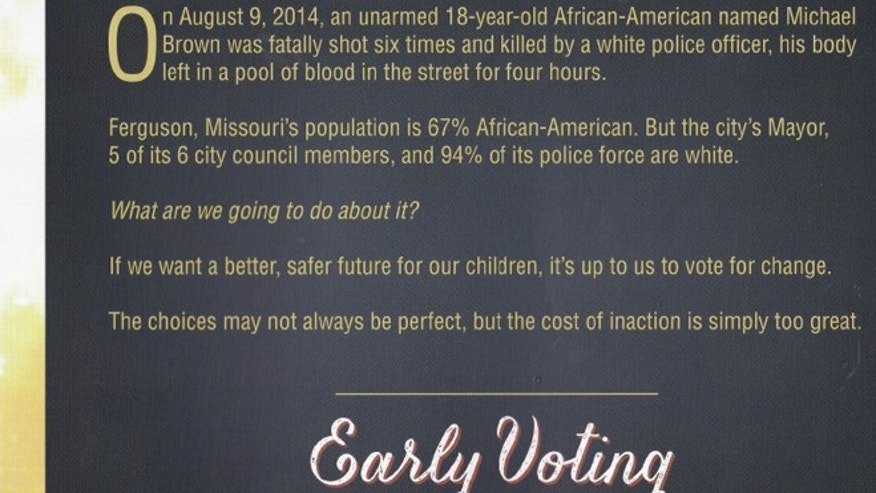 Shown here is an image from a flier being circulated by Georgia Democrats.