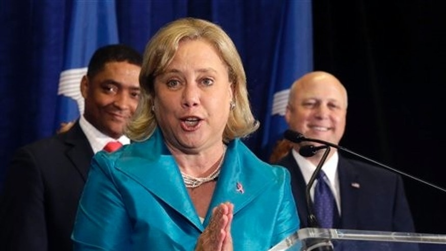 Oct. 20, 2014: Sen. Mary Landrieu, D-La., speaks at a campaign event for her senate race in Baton Rouge, La.