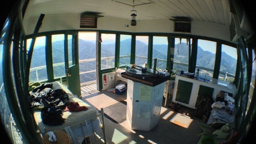 July 20, 2013 photo of Hirz Mountain Lookout, Calif.