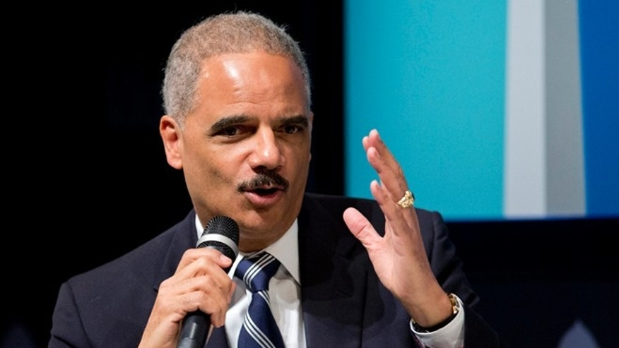 Oct. 29, 2014: Attorney General Eric Holder speaks at the 'Washington Ideas Forum' in Washington.