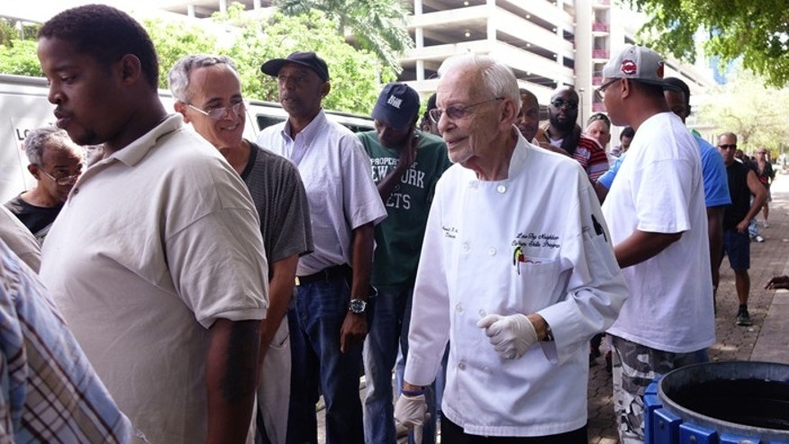 Arnold Abbott plans to defy Fort Lauderdale's ordinance against feeding the homeless again on Wednesday. (Courtesy: Sun-Sentinel)
