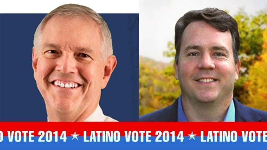 Nick Casey (left) and the new Cuban-American Congressman from West Virginia, Alex Mooney (right).