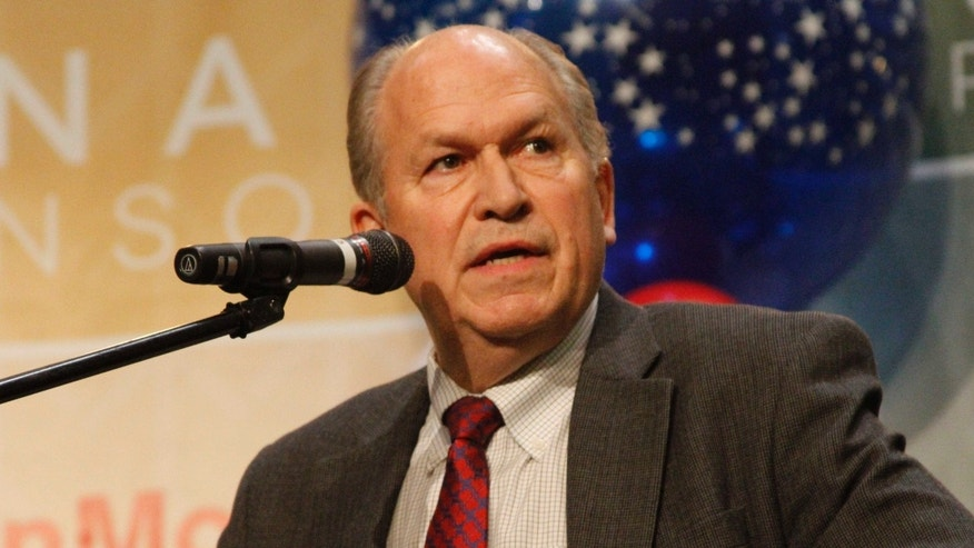 Oct. 24, 2014: Bill Walker, an independent candidate for Alaska governor, answers a question during a debate in Anchorage, Alaska.