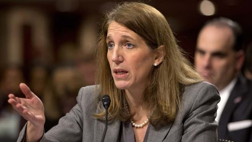 Health and Human Services Secretary Sylvia Burwell testifies on Capitol Hill in Washington on Wednesday, Nov. 12, 2014.