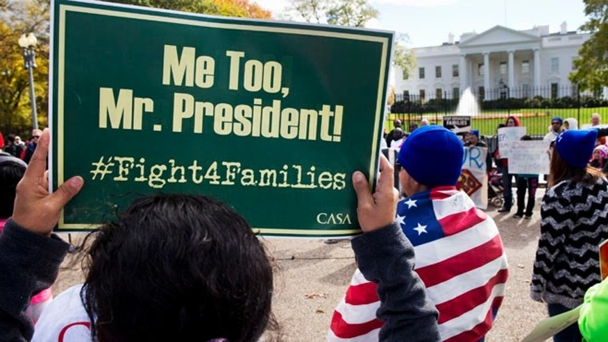 Nov. 7, 2014: People rally for comprehensive immigration reform outside of the White House. (AP)