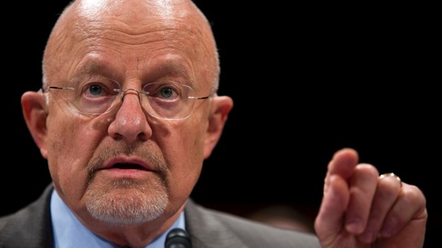 FILE: Oct. 29,2013: Director of National Intelligence James Clapper on Capitol Hill in Washington, D.C.