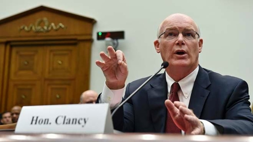 Acting Secret Service Director Joseph Clancy testifies on Capitol Hill in Washington, Wednesday, Nov. 19, 2014.