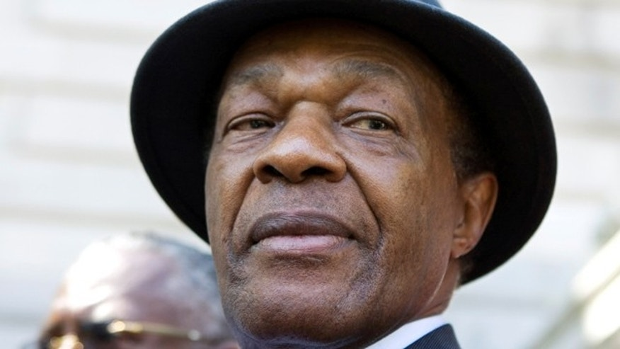 FILE - In this July 6, 2009 file photo, former District of Columbia Mayor Marion Barry attends a news conference in Washington. (AP Photo/Manuel Balce Ceneta, File)