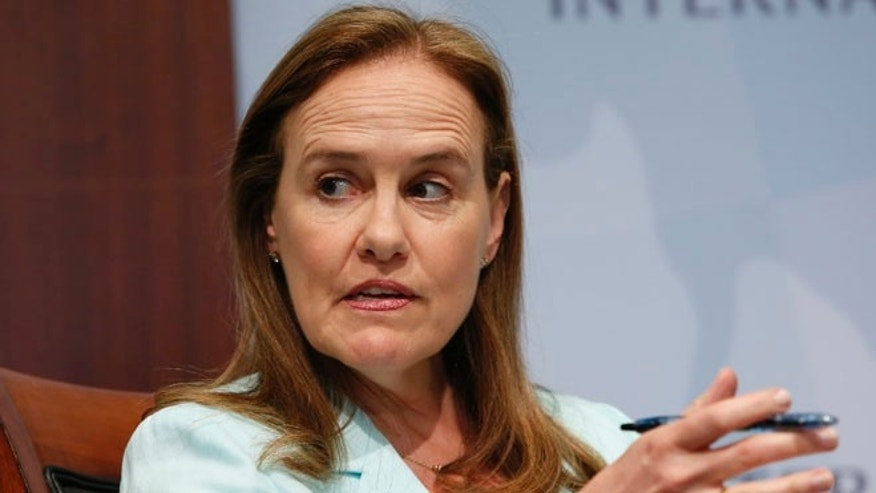 FILE: June 2, 2014: Former Defense Undersecretary for Policy Michele Flournoy, in Washington, D.C.